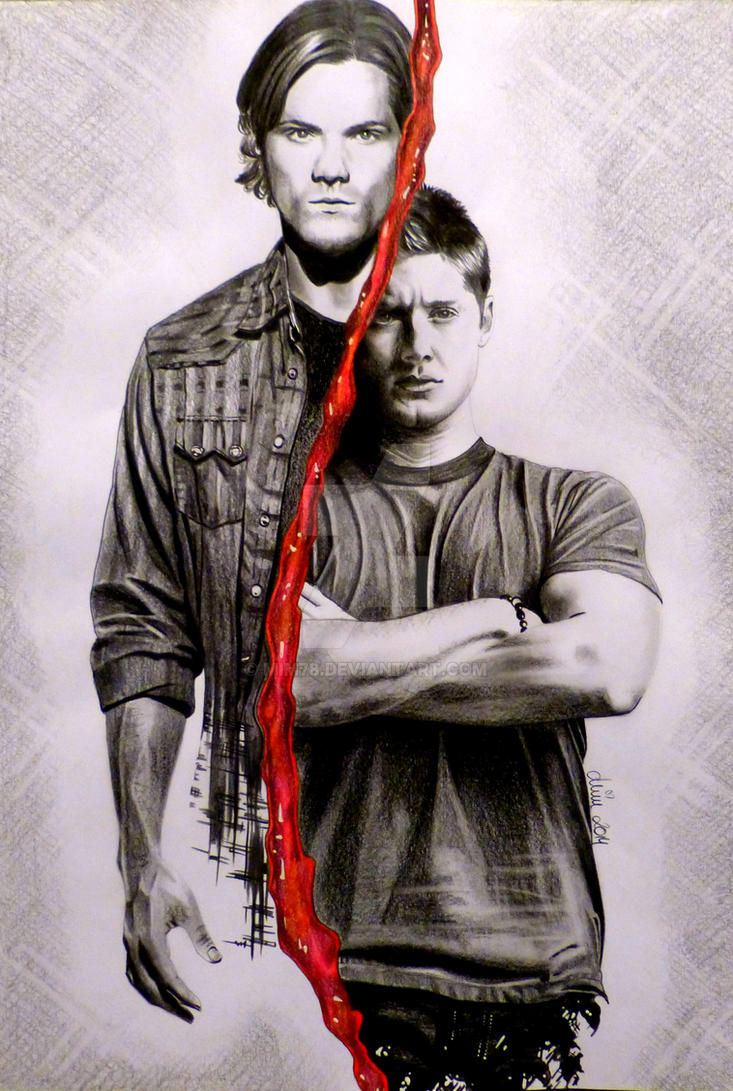 Sam and Dean aka Jared Padalecki and Jensen Ackles by Mim78