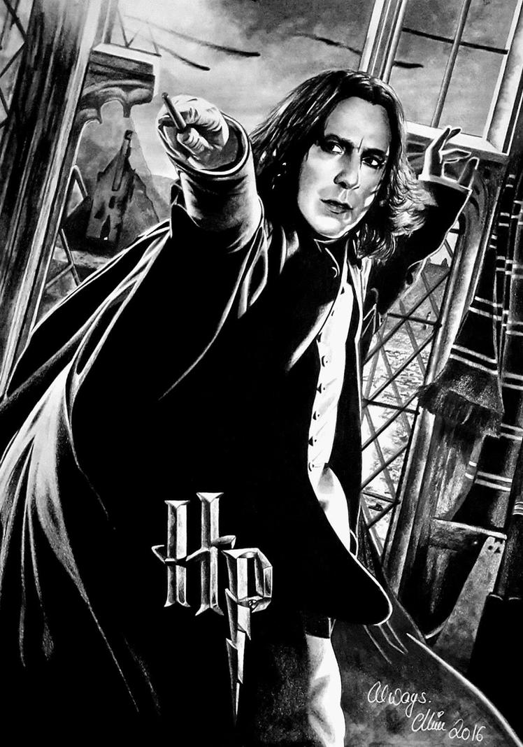 Severus Snape aka Alan Rickman, R.I.P. by Mim78