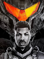 John Boyega and Gipsy Avenger, PACIFIC RIM by Mim78