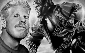 Ron Perlman aka HELLBOY, Marvel by Mim78