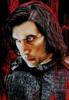 Adam Driver, Kylo Ren in STAR WARS by Mim78