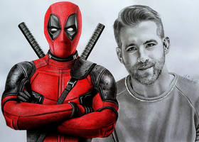 DEADPOOL aka Ryan Reynolds, Marvel by Mim78