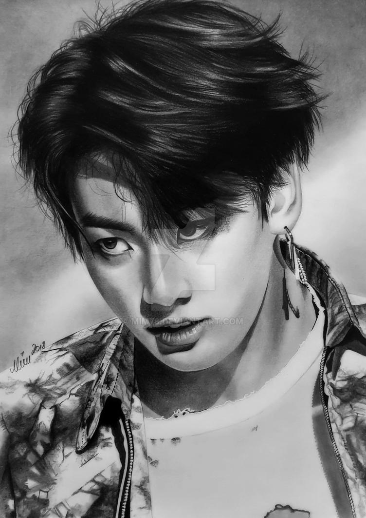 Jungkook of BTS, Bangtan Boys, K-POP by Mim78