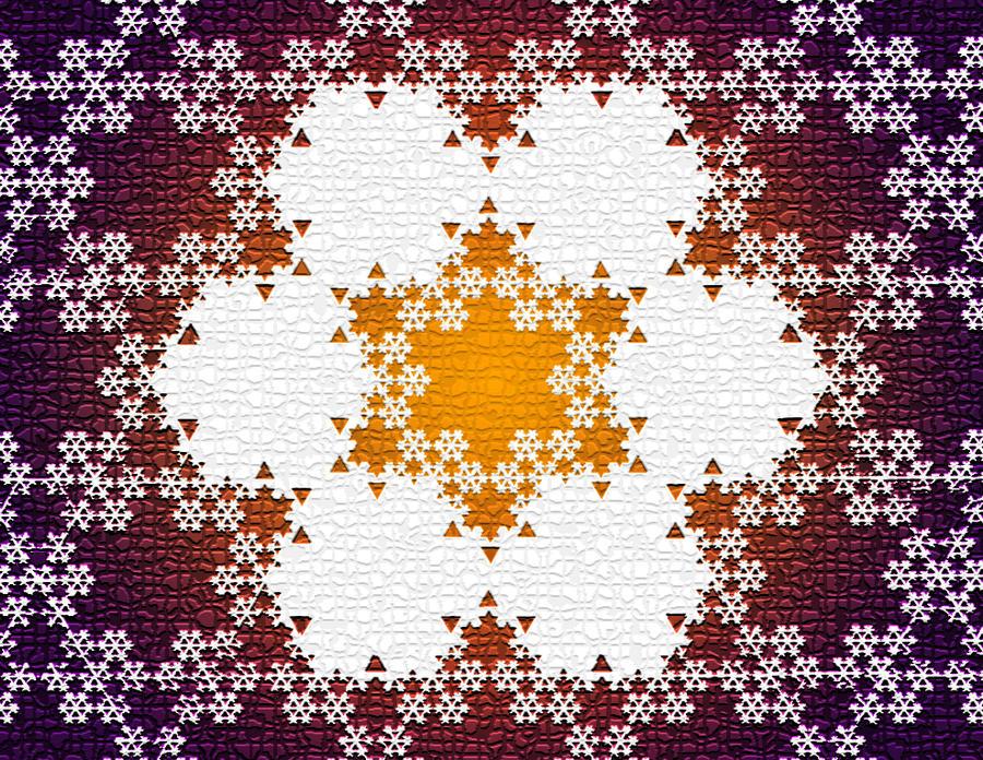 Koch Snowflake Flower Fractal