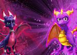 Spyro and Cynder wallpaper