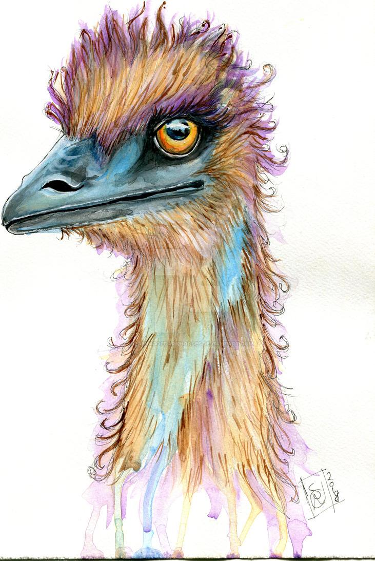 The Australian Fauna Series: 1 'Emu' by DreamingofDarkhorses