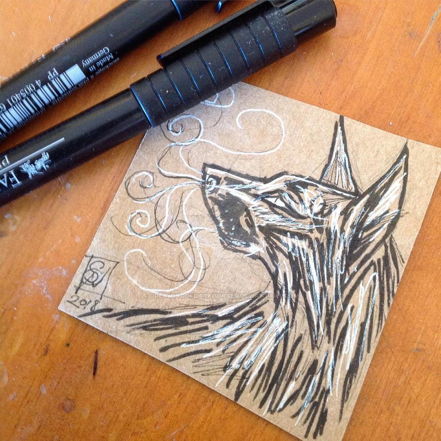 Daily Doodle: Black Dog by DreamingofDarkhorses