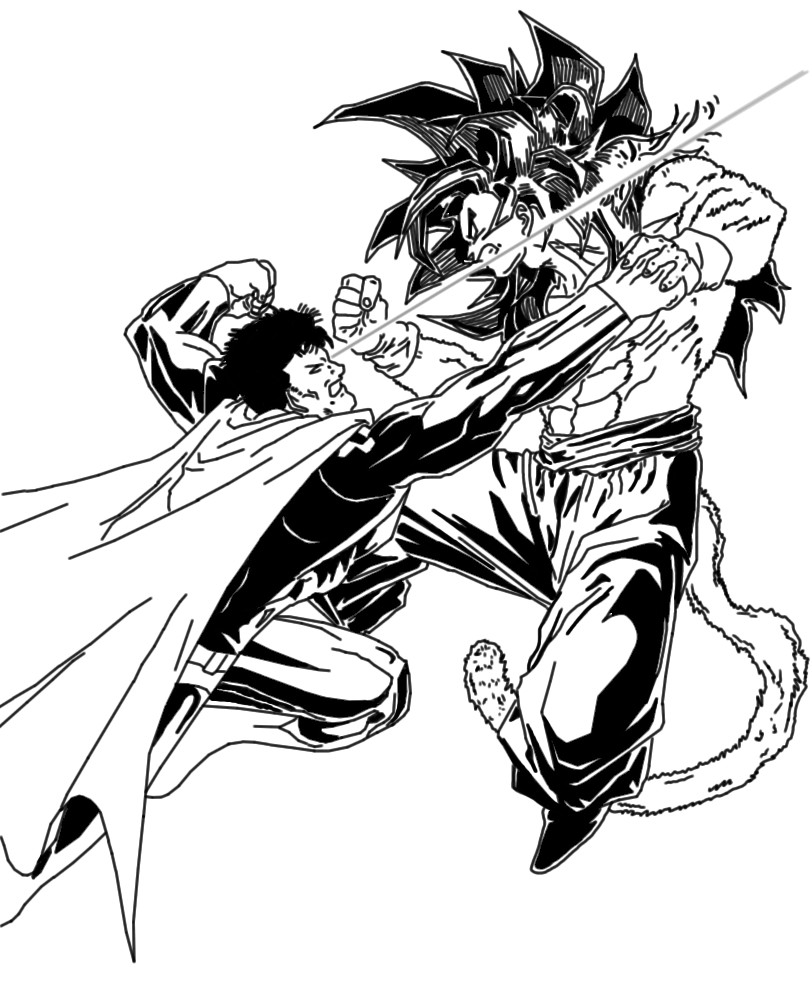 goku ssj4 vs superman by DCnerd135 on DeviantArt