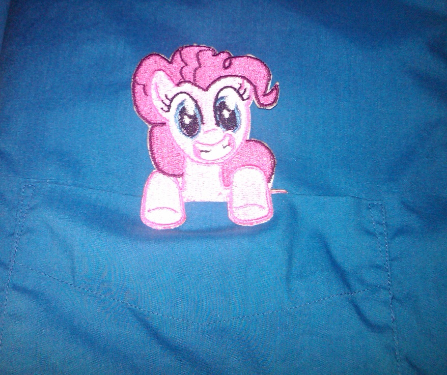 Pinkie Pie Pocket Topper by EthePony