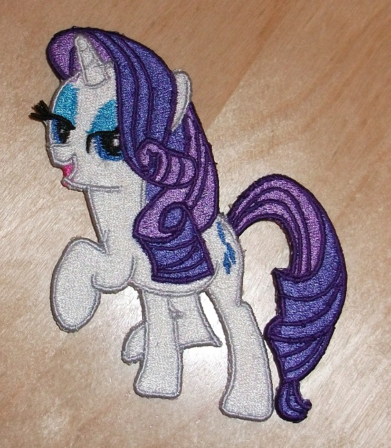 Miss Rarity Embroidered by EthePony