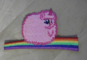 Flufflepuff on a Rainbow by EthePony
