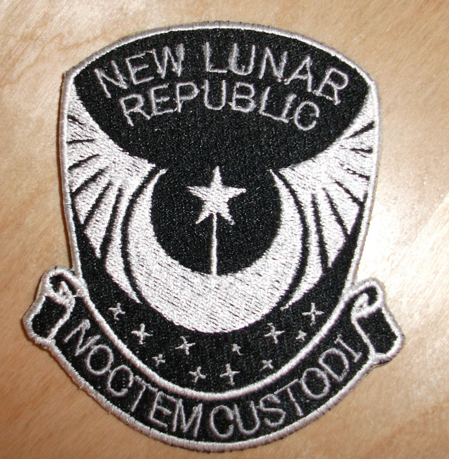 New Lunar Republic Black and White Patch by EthePony