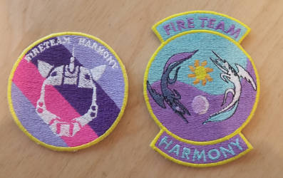 Fire Team Harmony Unit Patches