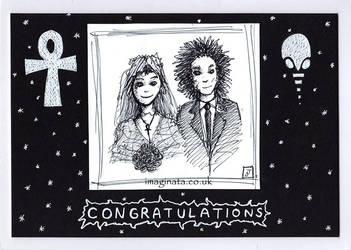 Death and Dream Wedding Card by Imaginata