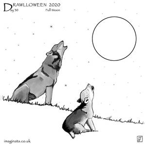 Drawlloween 2020 - Day 30 - Full Moon