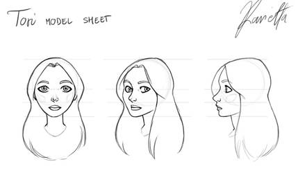 Model Sheet - Tori by Ravietta