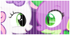Badge: Female Spike x Sweetie Belle by TheRedKunoichi