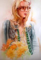 Watercolor Portrait by Raines-Tu