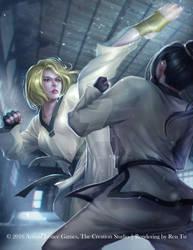 Reverse Crescent Kick (Taekwondo Set) by Raines-Tu