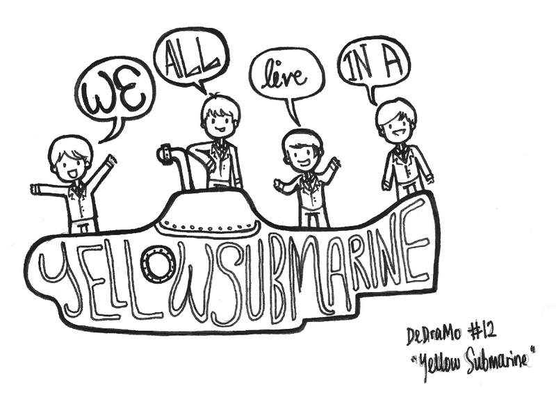yellow submarine coloring pages - beatles coloring pages printable sketch coloring page