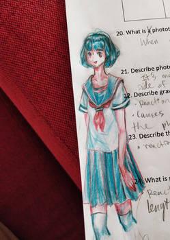 Anime Girl Doodle