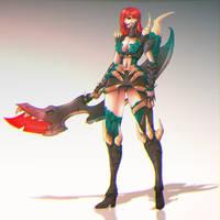 Monster Hunter Violet by GasaiNova