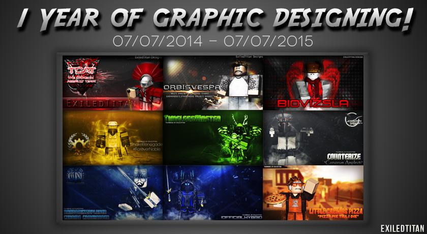 1 Year Gfx Thumbnail Roblox By Exiledtitangfx On Deviantart