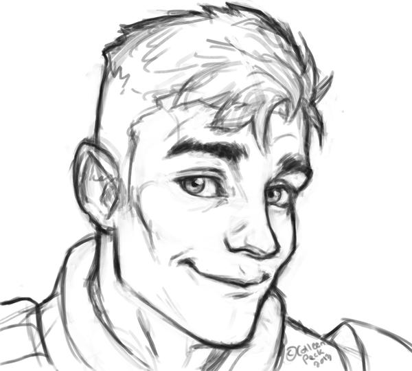 Line Drawing Face Tumblr : Gift sketch for theboywolf on tumblr by wieldsthekey