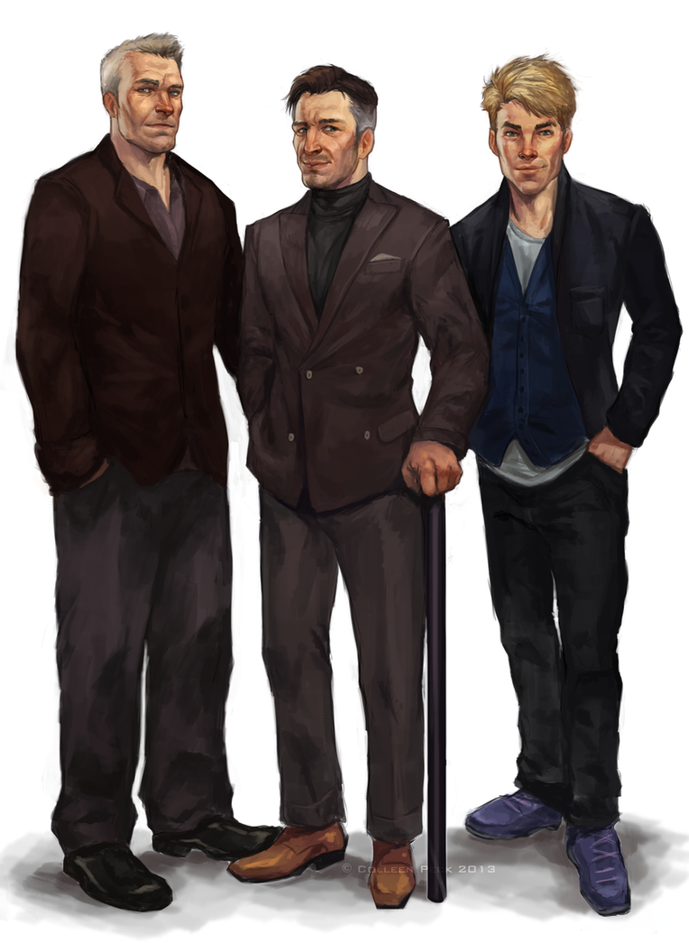 Thomas, Carson and Shane for AstridJane by WieldstheKey