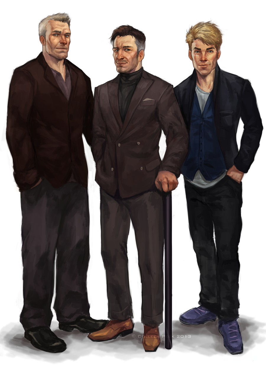 Thomas, Carson and Shane for AstridJane by WieldstheKey