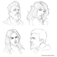 Sons of Anarchy Sketches by WieldstheKey