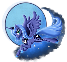Princess Luna by PlatinumPegasister