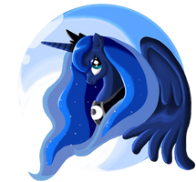 Beautiful Moon by PlatinumPegasister