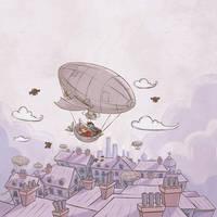 A boy and his dirigible by fyr3lyt3