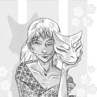 Kitsune mask by fyr3lyt3