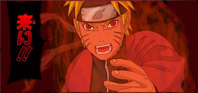 Naruto Sage Eye Kyuubi Kyuubi Sage Naruto by Fallriv