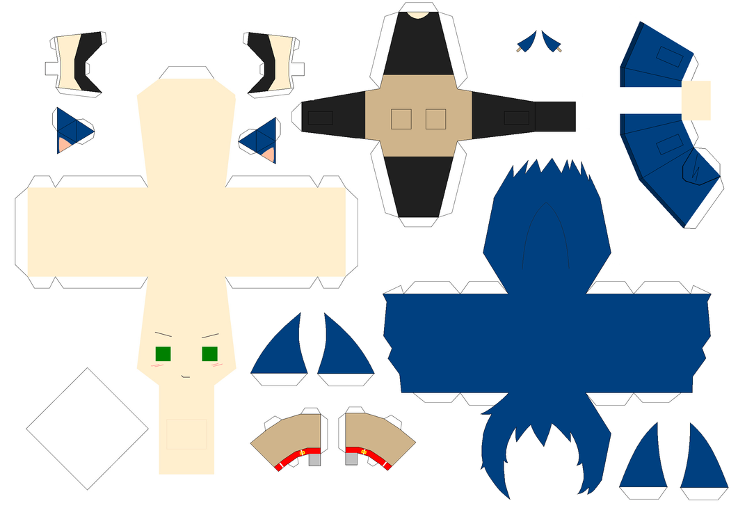 Sonic Papercraft Template by Huski-Fan on DeviantArt