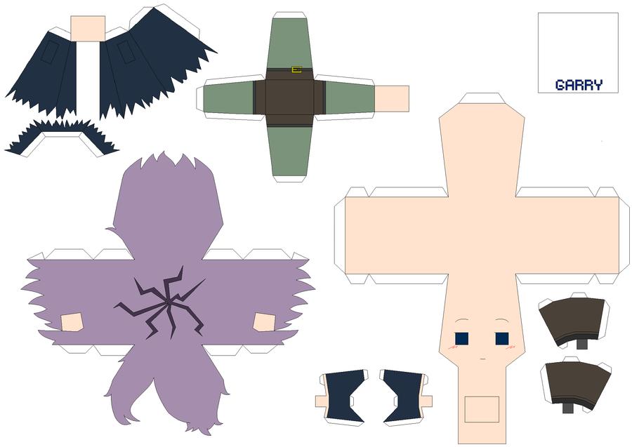Papercraft Link Template Garry Papercraft Template by