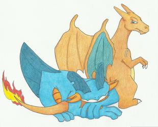 Pyro and Gilrain by wspa