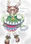 Christmas-Reindeer by Moneyfunny