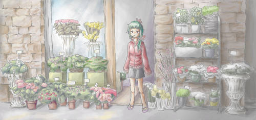 Flower Store by Moneyfunny