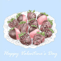 Happy Valentine's Day- Strewberry and  Chocolate by Moneyfunny