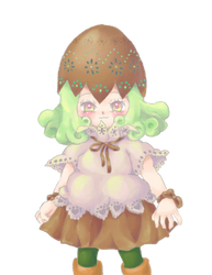 Mint chocolate egg girl by Moneyfunny