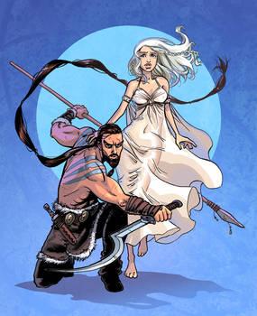 Khal Drogo and Daenerys Targar