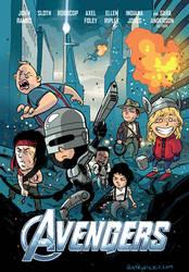 80s movie Avengers by iliaskrzs