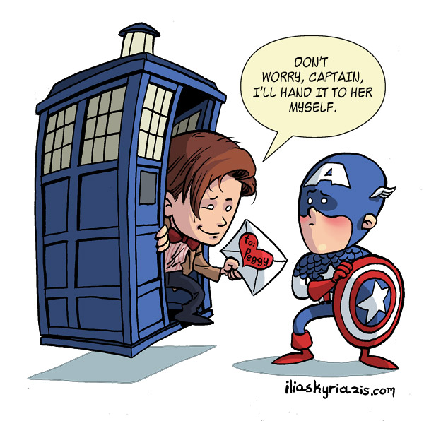 the Doctor and Captain America