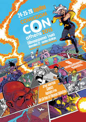 Comicdom Con Athens 2015 poster by iliaskrzs