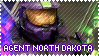 RED VS BLUE Agent North Dakota Stamp by foxedjaws