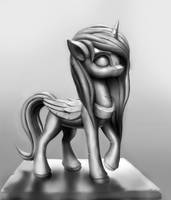 Horse Statue by Sceathlet