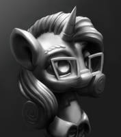 Horse Statue 2 by Sceathlet